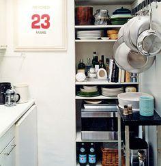 espacios de guardado en cocinas
