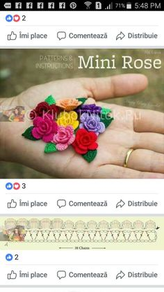 Wonderful Ribbon Embroidery Flowers by Hand Ideas. Enchanting Ribbon Embroidery Flowers by Hand Ideas. Crochet Flower Tutorial, Crochet Flower Patterns, Crochet Motif, Irish Crochet, Crochet Flowers, Crochet Lace, Crochet Coaster, Russian Crochet, Doily Patterns
