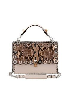 b6ade36e7c14 FENDI KAN I REGULAR PYTHON AND CALF SHOULDER BAG.  fendi  bags  shoulder  bags  hand bags  leather
