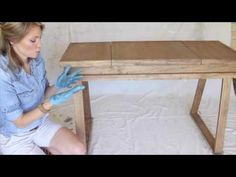 Creating a White-Washed Weathered Oak Finish- Video Tutorial - Shades of Blue Interiors