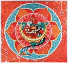 Sacral Chakra, Mandala, Tableware, Dinnerware, Dishes, Coloring Pages Mandala, Mandalas