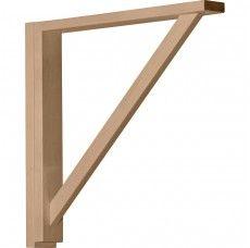 Ekena Millwork BKT02X10X10TRRW  2 1//2-Inch W by 10 3//4-Inch D by 10 1//4-Inch H Traditional Shelf Bracket Rubber Wood
