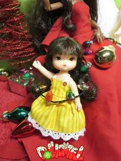 Christmas time with Dollightful! Little Mimi 리틀 미미 리페인팅 Repaint ooak custom face up doll