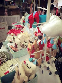 I need to make one of these trees for display!  this one is part of www.millymollymandy.com.au  market display at the Shelly Beach Markets