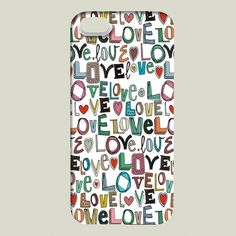 Shop for unique nursery art like the l o v e LOVE iPhone case by scrummy on BoomBoomPrints today!  Customize colors, style and design to make the artwork in your baby's room their own!