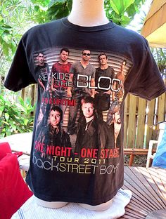 2c572d1b580 NKOTBSB New Kids on the Block Backstreet Boys 2011 Concert Tour Shirt Sz M  #Hanes