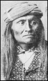 Mangas Coloradas (Red Coloured Sleeves)  (photo may be of his son), Chiricahua Apache (sw New Mexico),  father-in-law of Chiricahua Chief Cochise family on my papas side