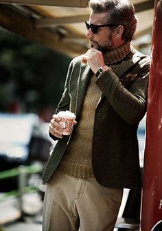 Elegant knit and jacket!