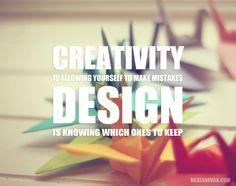 Cretivity vs. Design