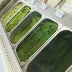 shades of aesthetic green ice cream 🍦🌿