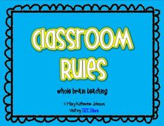 Start your year off strong with these rules from Whole Brain Teaching!...