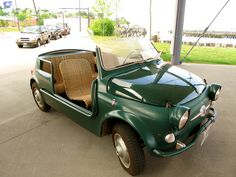 This 1960 Fiat Jolly was apparently a door prize at the Met. Those wicker seats are to die for!