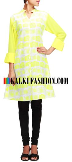 Buy Online from the link below. We ship worldwide (Free Shipping over US$100)  http://www.kalkifashion.com/off-white-kurti-featuring-with-camera-print.html Off white kurti featuring with camera print