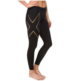 3b2859b138 NWT 2XU Women's MCS Compression Run Tights Black/Gold Sz M #2XU  #BaseLayerBottom