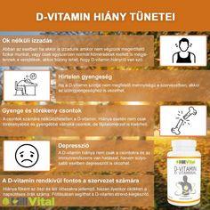 Lehet, nem is gondolnád az alábbi tünetekről, hogy a D-vitamin hiánya miatt van. Izzadás: A gyöngyöző homlok is lehet tünete a D-vitamin hiányának, és nemcsak felnőtteknél. Érdemes odafigyelni arra, ha nem végzünk fizikai munkát, és normális hőmérsékletű környezetben is izzadunk, akkor lehetséges, hogy D-vitamin-hiányban szenvedünk. Vitamins, Vitamin D