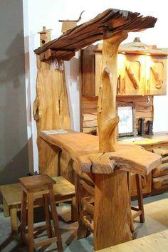 Rustic Log Furniture, Bar Furniture, Outdoor Furniture, Furniture Makeover, Antique Furniture, Modern Furniture, Rustic Wood, Rustic Decor, Wood Projects