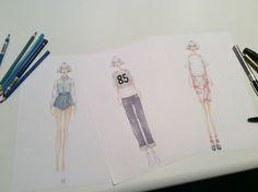 #fashion #disegnomoda #collezione #denim #futurismo