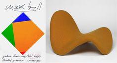 Left : Max Bill // Right : Pierre Paulin via Goodmoods