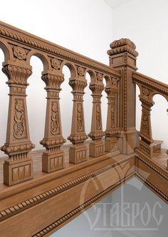 Резная лестница для украшения современного Теремного дворца.