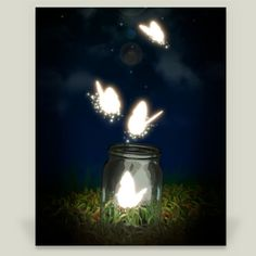 Fun Indie Art from BoomBoomPrints.com! https://www.boomboomprints.com/Product/StuffByRabassa/Night_Butterflies/Art_Prints/8x10_Print/