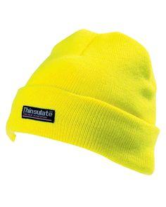 1155e873012 Yoko Yellow 3M Thinsulate Hi Vis Thermal Beanie Hat High Viz Woolly (Cap402)
