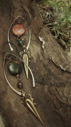 Symbiosis - Brass Earrings. $40.00, via Etsy.