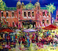 Monaco Market, Painting, Duaiv