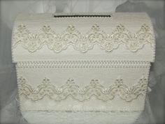 treasure chest money box/wedding card box/ivory by iweddingworld