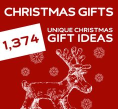 The holy grail for unique Christmas gifts. Over 1,374 gift ideas! No kidding these ar some great ideas!!
