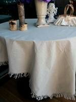 Fringed cloth for draping