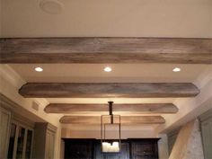 faux driftwood beams Love these beams!