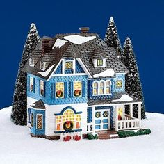 NEW Dept 56 Snow Village American Architecture Shingle Victorian Retired 54884 * This is an Amazon Affiliate link. For more information, visit image link.
