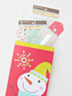 HOSTESS GIFT: MIY HOLIDAY GIFT TAGS GIFT BAG