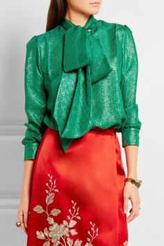 The chicest way to wear greenery.