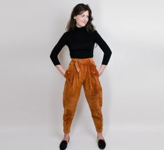 Vintage Danish suede leather pants