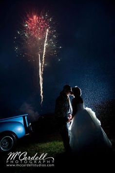 You probably saw Brittany and Jeremy's engagement session we posted recently. As you would expect, their wedding was exceedingly adorable, c. Cute Couples Photos, Couple Photos, Romantic Photos, Wedding Portraits, Brittany, Fireworks, Portrait Photographers, Engagement Session, Red And White