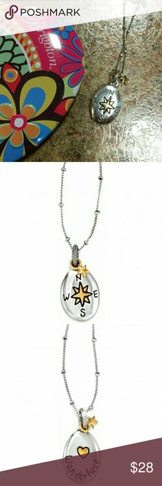 """Brighton Wanderlust Necklace Sentiments Collection Closure: Lobster Claw Length: 16"""" - 18"""" Adjustable Features: Message Pendant Drop: 1"""" Finish: Silver plated, Gold plated Some Minor flaws from use Brighton   Jewelry Necklaces"""
