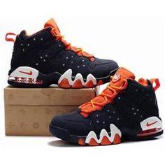 http://www.asneakers4u.com/ New Nike Air Max2 CB 94 Dark Blue/Orange   Charles Barkley Shoes