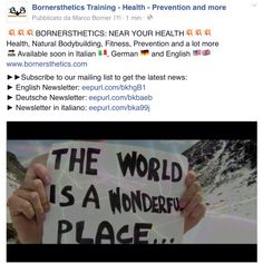 BORNERSTHETICS: NEAR YOUR HEALTH Health, Natural Bodybuilding, Fitness, Prevention and a lot more   Available soon in Italian , German  and English  www.bornersthetics.com ►►Subscribe to our mailing list to get the latest news:  ► English Newsletter: eepurl.com/bkhgB1 ► Deutsche Newsletter: eepurl.com/bkbaeb ► Newsletter in italiano: eepurl.com/bka99j  #bornersthetics #health #nearyou #schweiz #deutschland #italia #österreich #coach #fitness #natural #bodybuilding