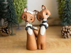 Red Fox Wedding Cake Topper by Bonjour Poupette by BonjourPoupette