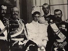 Photograph of Tsar Nicholas II and Alexandra taken at the Tsarskoe Selo Palace in the late 1890s.