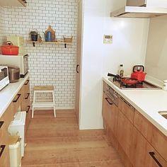 Kitchen/IKEA/キッチン/カフェ風/リフォーム/ペンダントライト...などのインテリア実例 - 2017-07-17 13:56:32