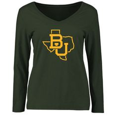 Baylor Bears Women's Tradition State Slim Fit Long Sleeve T-Shirt - Green
