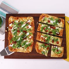 Bacon, Blue Cheese, and Arugula Flatbread: What's not to love about a flatbread that's topped with bacon, blue cheese, and arugula?