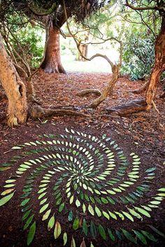 Add beautiful land art STEAM projects to Exploring Creation with Botany and Zoology 2! Land Art Ephemeral Art James Brunt Mandalas Mandala Stones