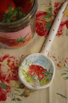 Julie Whitmore Pottery Spoon. So, so sweet!