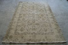 ON SALE! 40% OFF! Distressed Oushak Rug, Handwoven Distressed Rug, Low Pile Carpet