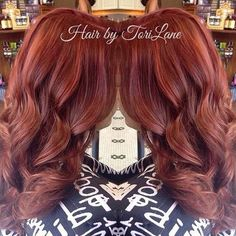 copper red curly hair
