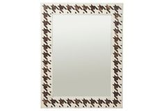 This houndstooth mirror would pair perfectly with our Houndstooth Acrylic Tray!  Houndstooth Bone Mirror, Ivory/Brown on OneKingsLane.com