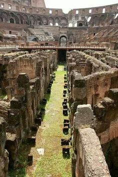 Inside the Colosseum. Rome